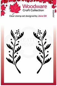 Creative Expressions Woodware Clear Stamp A6 - Ellie Leaf