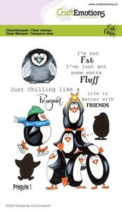 CraftEmotions Clearstamp A6 - Penguin 1