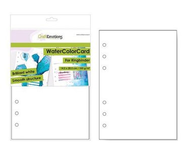 CraftEmotions Watercolour Card A5 - Briljant Wit 350 gr voor Ringband