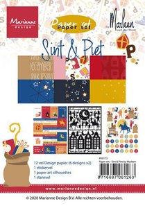 Marianne Design Paper Set A5 - Sint & Piet PK9173