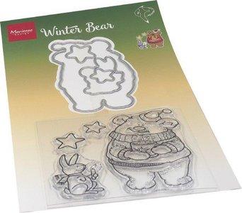 Marianne Design Die & Stamp - Hetty's Winter Bear HT1659