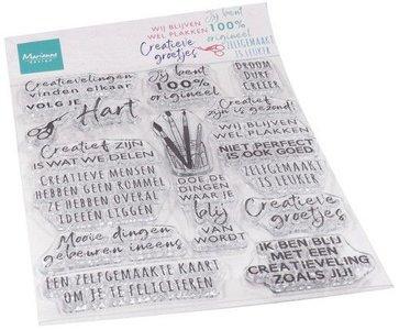 Marianne Design Stempel - Creatieve Groetjes CS1071