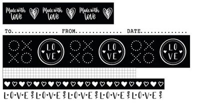 Studio Light Washi Tape - Filled with Love no. 18