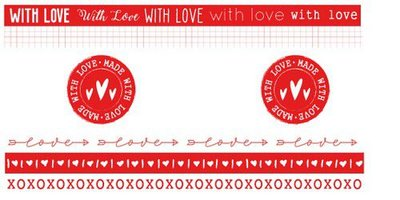 Studio Light Washi Tape - Filled with Love no. 19