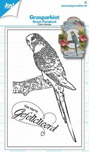 Joy! Crafts Clearstamp - Grass Parakeet 6410/0536