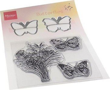 Marianne Design Die & Stamp - Tiny's Butterflies TC0879