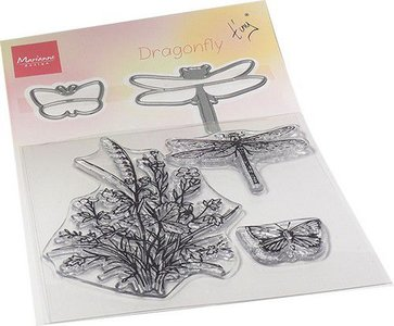 Marianne Design Die & Stamp - Tiny's Dragonfly TC0880