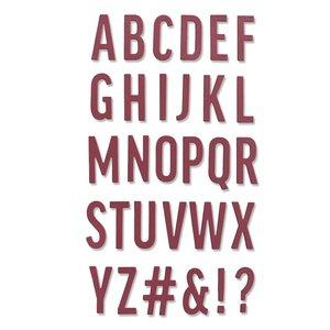 Sizzix Thinlits Die - Bold Alphabet 665072
