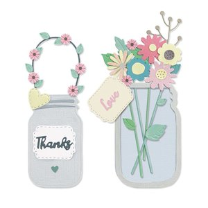 Sizzix Thinlits Die - Jar of Flowers 665079