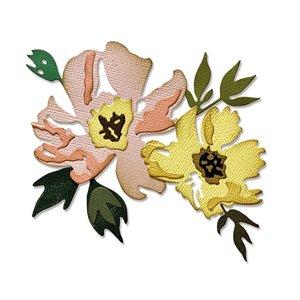 Sizzix Thinlits Die - Brushstroke Flowers #1 665209