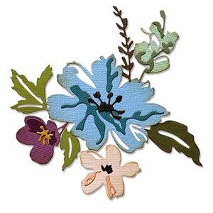 Sizzix Thinlits Die - Brushstroke Flowers #2 665210