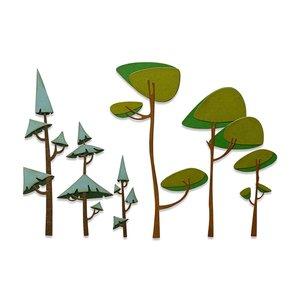 Sizzix Thinlits Die - Funky Trees 665217