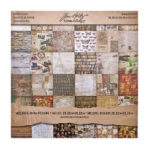 "Idea-Ology Tim Holtz Paper Stash 8"" x 8"" - Collage TH93054"