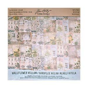 "Idea-Ology Tim Holtz Paper Stash 12"" x 12"" - Wallflower Vellum TH93148"