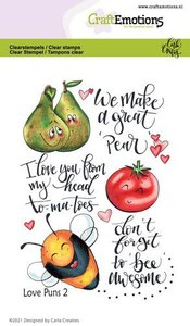 CraftEmotions Clearstamp A6 - Love Puns 2