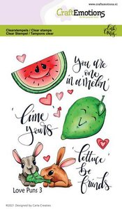 CraftEmotions Clearstamp A6 - Love Puns 3