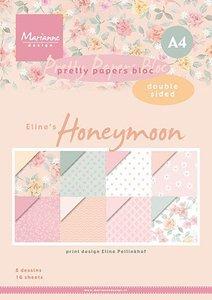 Marianne Design Paper Pad A4 - Eline's Honeymoon PB7060