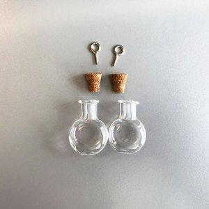 Mini Flesjes Bol met Kurk & Schroef 19,2 x 10 x 24 mm - 12423-2313