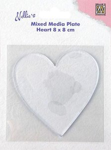 Nellie's Choice Gelplate - Heart NMMP006
