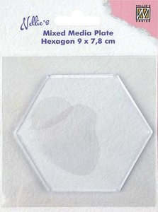 Nellie's Choice Gelplate - Hexagon NMMP008
