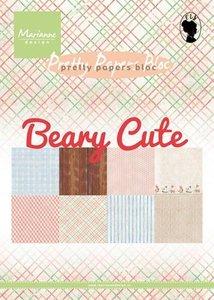 Marianne Design Paper Pack A5 - Beary Cute PK9145