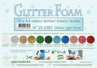 Leane Creatief Glitter Foam - Light Blue 25.5282 OP=OP