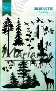 Marianne Design Stempel - Silhouette Woodland CS1014