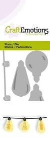CraftEmotions Die - Hippe ketting gloeilampjes 3D