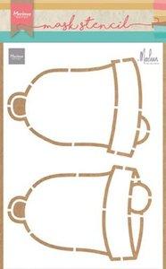 Marianne Design Craft Stencil - Christmas Bells PS8019