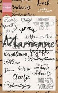 Marianne Design Stempel - Menu CS1015