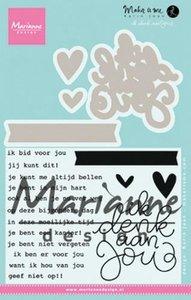 Marianne Design Stempel - Ik denk aan Jou KJ1727
