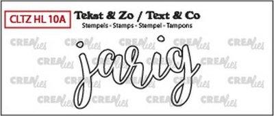 Crealies Stempel Tekst & Zo - Handlettering 10a  - Jarig