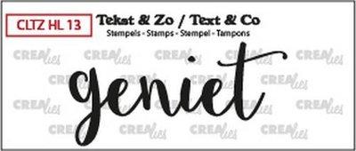 Crealies Stempel Tekst & Zo - Handlettering 13 - Geniet