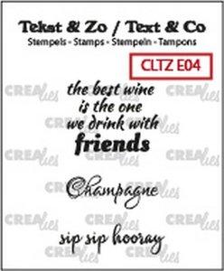 Crealies Stempel Text & Co  4 - Wine C