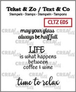 Crealies Stempel Text & Co  5 - Wine D