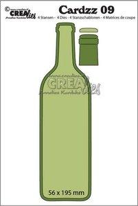 Crealies Cardzz  9 - Wijnfles