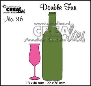 Crealies Double Fun 36 - Champagneglas