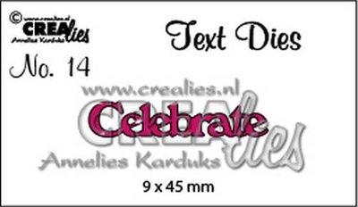 Crealies Tekststans UK  14 - Celebrate