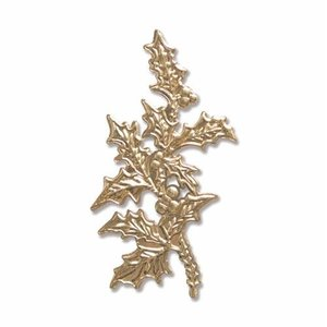 Sizzix 3-D Impresslits Embossing Folder - Holly Leaf 663295