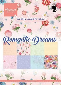 Marianne Design Paper Pack A5 - Romantic Dreams PK9160