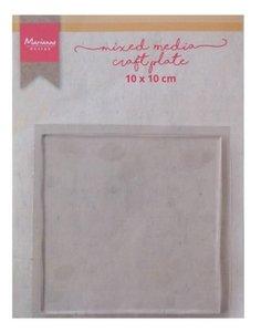 Marianne Design Mixed Media - Craft Plate Square 10 cm LR0017