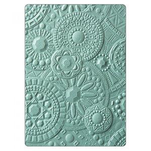 Sizzix 3-D Textured Impressions Embossing Folder - Mosaic Gems 663206