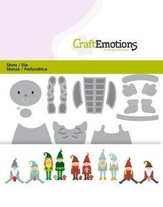 CraftEmotions Die - Christmas Gnome